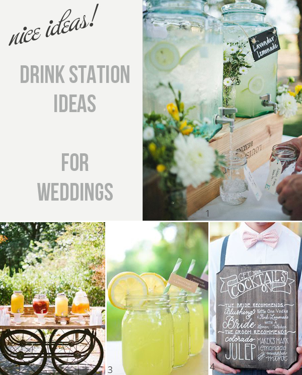drink stations at weddings