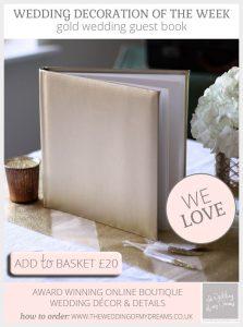 gold wedding guest book
