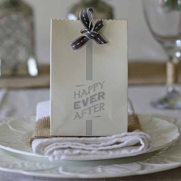 happy ever after wedding favour bag