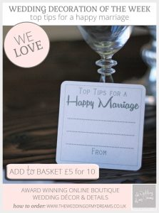 top tips for a happy marriage coasters