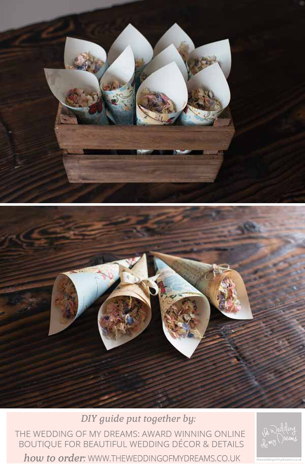 how to make paper confetti cones step by step guide