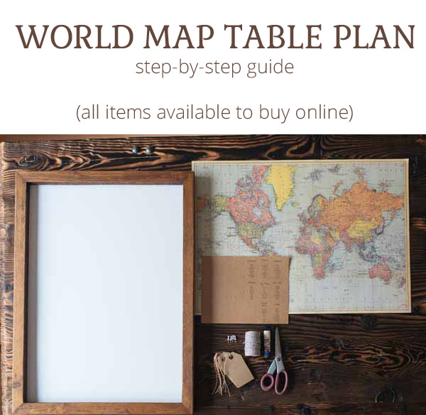 world map wedding table plan step by step guide