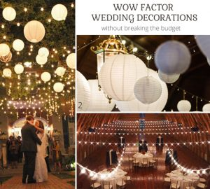 wow factor wedding decorations without breaking the budget