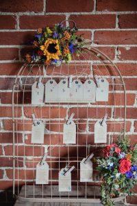 birdcage wedding table plan - rustic barn wedding decorations