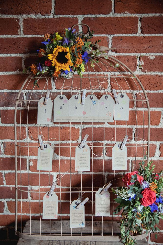 birdcage wedding table plan - rustic barn wedding decorations