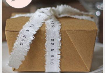 folding brown gift box wedding favour cake box