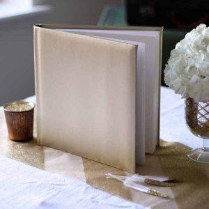 gold guest book