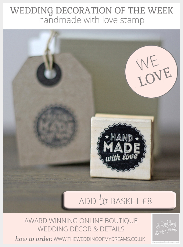 handmade stamp for handmade wedding decorations and details