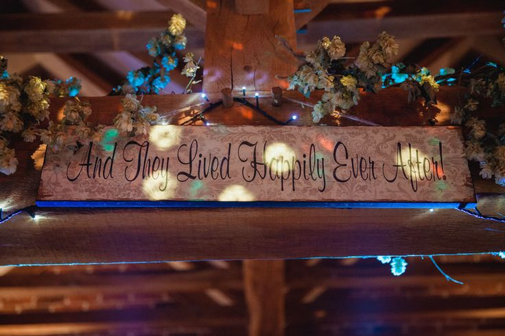 happily ever after wedding sign rustic barn wedding decorations