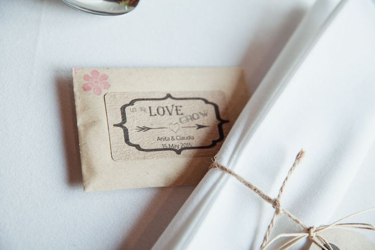 let the love grown personalised seed packet wedding favours - rustic barn wedding decorations - same sex wedding