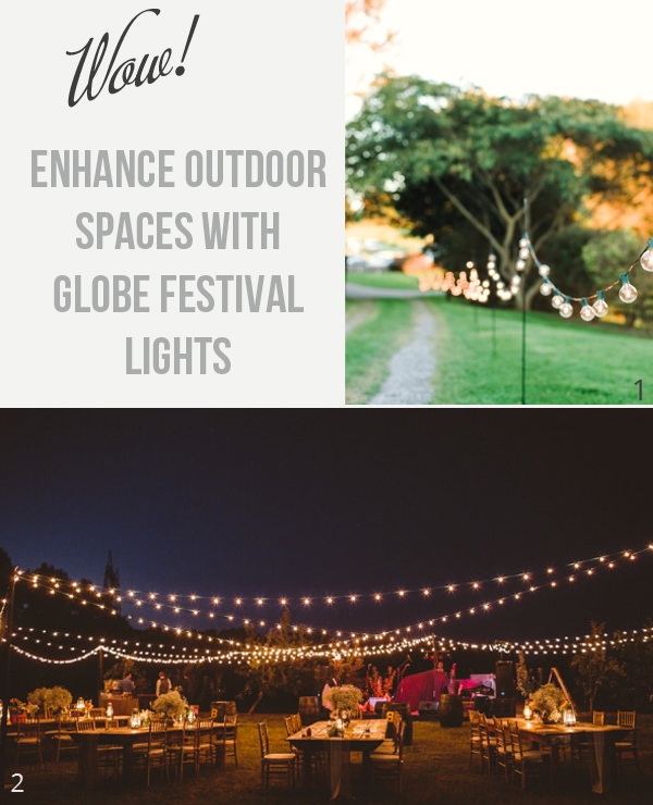 light up outdoor areas at weddings