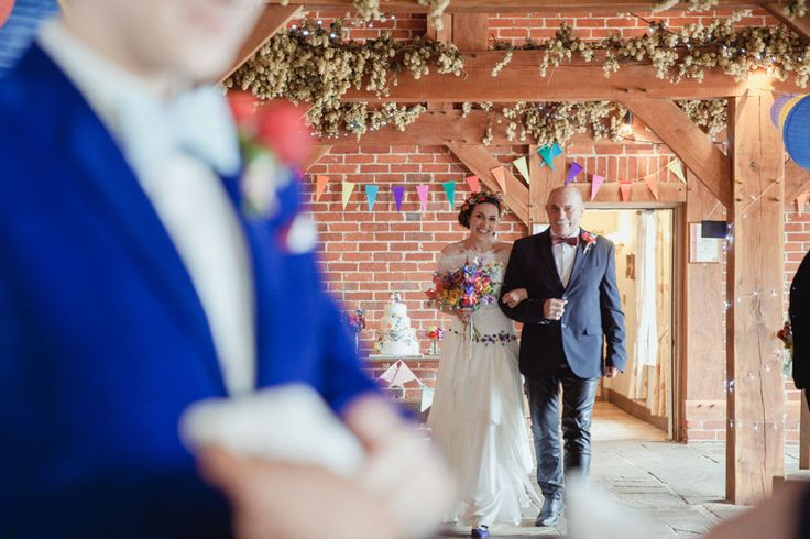 same sex wedding bright colourful rustic barn wedding decorations and ideas (4)