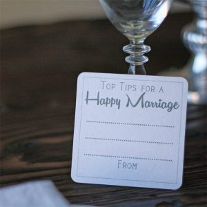 top tips for a happy marriage coasters alternative wedding guest bok