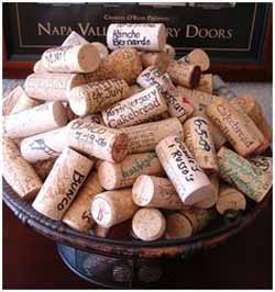wedding guest book ideas - ask guests to sign corks