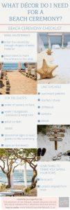 beach wedding ceremony decorations checklist