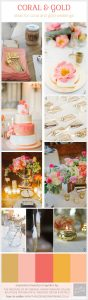 coral and gold wedding ideas inspiration and decorations