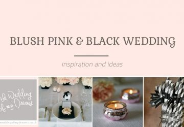 blush pink and black wedding decorations and ideas
