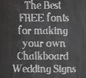 free fonts for chalkboard signs
