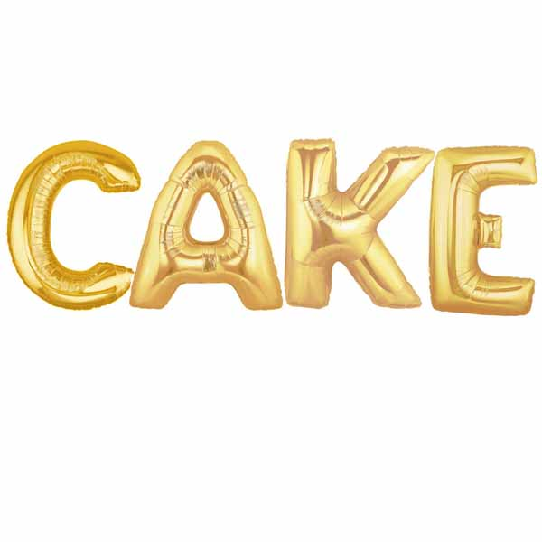 giant gold CAKE balloons