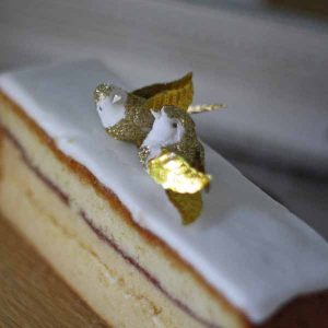 gold love bird cake toppers