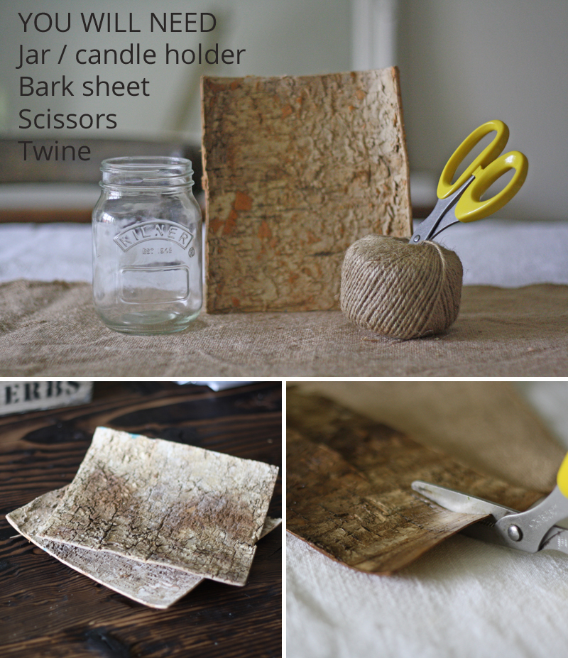 how to make bark covered tea light holders and bark vases step by step guide 1
