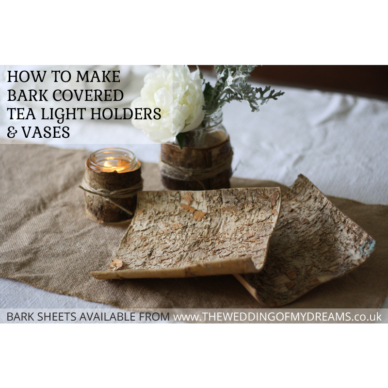 how to make bark covered tea light holders and bark vases