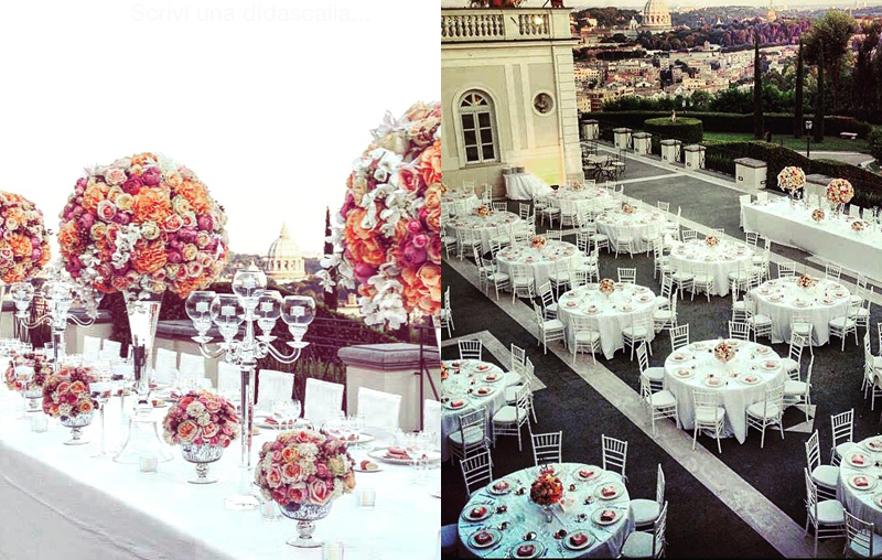 low and tall centrepieces italian wedding