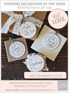 wedding favour gift tags