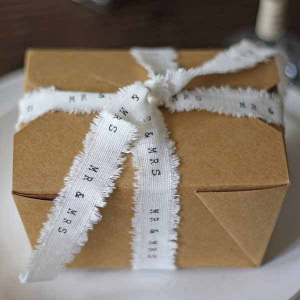 Folding brown gift box -featured in top 10 wedding favour bags boxes and bottles