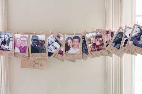 Great idea for a wedding wuest book, leave Polaroid photos of all your guests ask them to find their photos and leave you a not (3)
