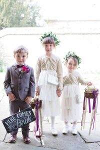 Here Comes The Bride Sign For Ringer Bearer Page Boy Real Wedding at Aynhoe Park (1)