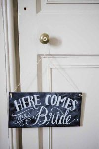 Here Comes The Bride Sign For Ringer Bearer Page Boy Real Wedding at Aynhoe Park (2)