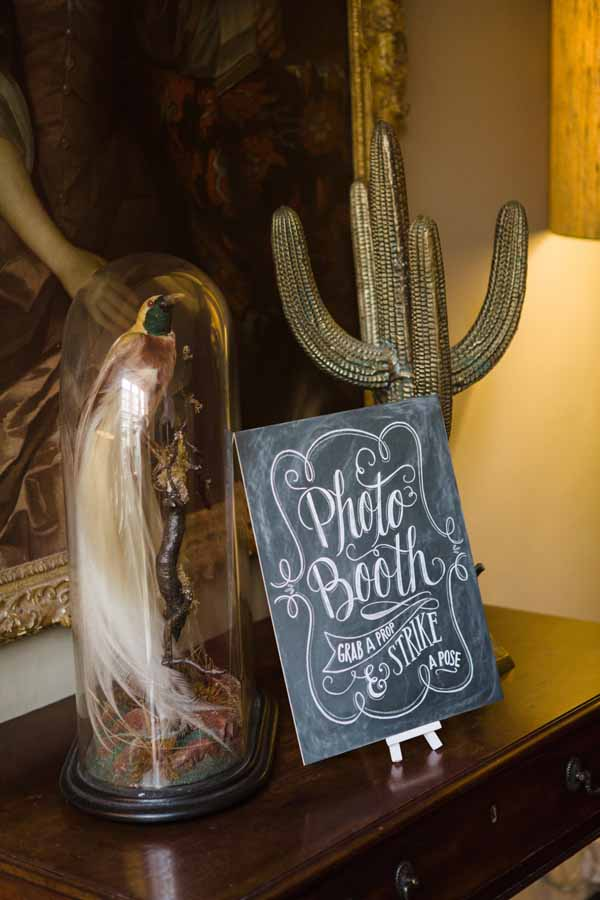 Photobooth Chalkboard Calligraphy Sign Used At Real Wedding at Aynhoe Park