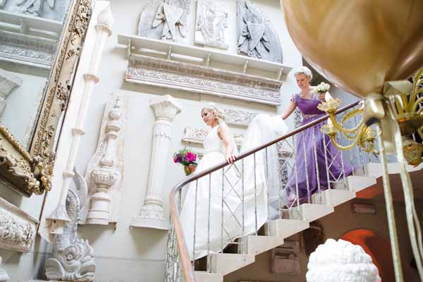 Real Wedding at Aynhoe Park Bright Pink Fun Wedding Decorations What A Cool Venue (18)