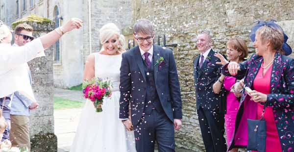 Real Wedding at Aynhoe Park Bright Pink Fun Wedding Decorations What A Cool Venue (22)