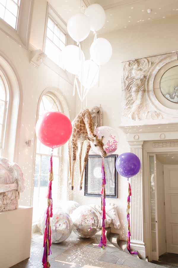 Real Wedding at Aynhoe Park Bright Pink Fun Wedding Decorations What A Cool Venue (25)