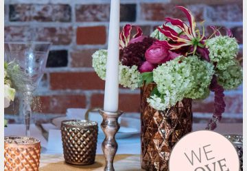 bronze candle sticks wedding decorations