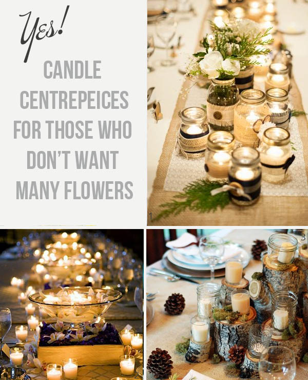 candle centrepiece ideas for non floral centrepieces
