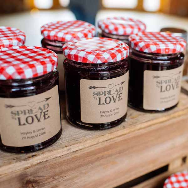 jam jars  - featured in the top 10 wedding favour bags and boxes