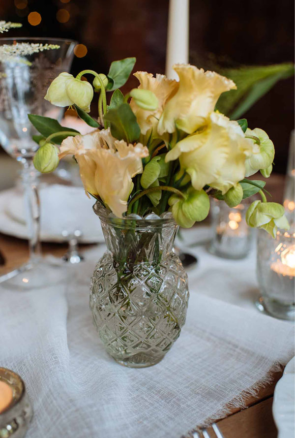 pressed glass bud vase posy vases for romantic glamour wedding tables