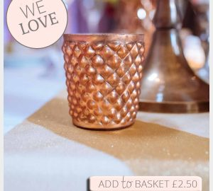 Quilted Glass Copper Tea Light Holders