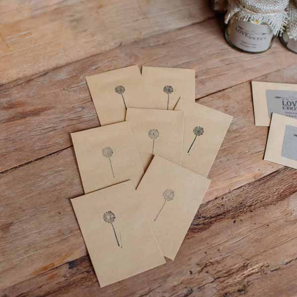 seed packet envelopes - featured in the top 10 wedding favour bags and boxes