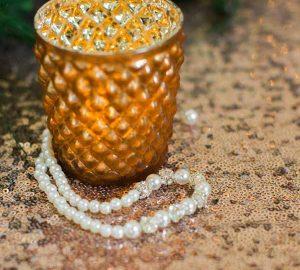 bronze copper tea light holders for weddings luxe metallic ideas (1)