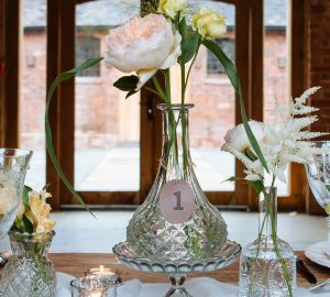 decanter wedding centrepiece romantic glamour wedding table decorations