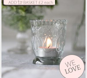 footed pressed glass tea light holders romantic glamour wedding decorations