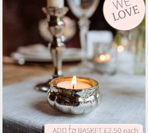 Mini Mercury Silver Tea Light Holders For Wedding Tables