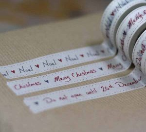 christmas tape for wrapping gifts