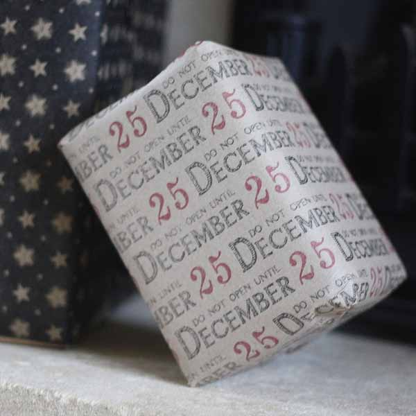 do not open before 25 december christmas wrapping paper
