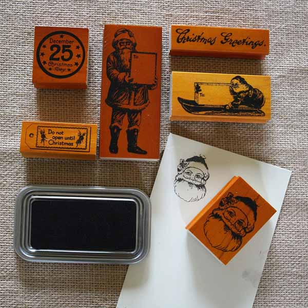 christmas rubber stamps for christmas gift wrapping and craft projects