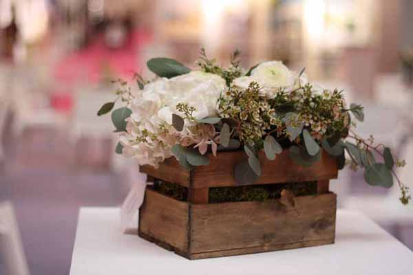Wooden Crate Box Wedding Centrepiece For Sale